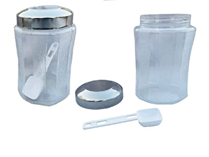 Amazon Com Kuber Industries Containers Set Of 2 Pcs With Steel Lid