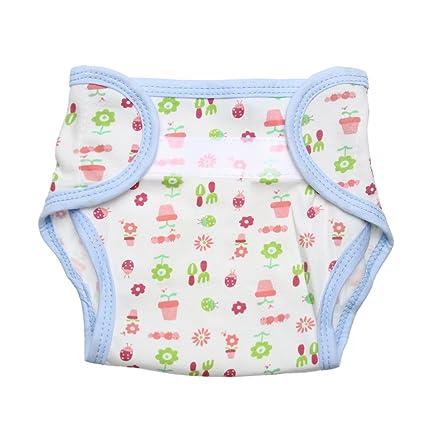 domybest niños lactantes Algodón – Pantalones de entrenamiento para el orinal pañales reutilizable Pañal de dibujos