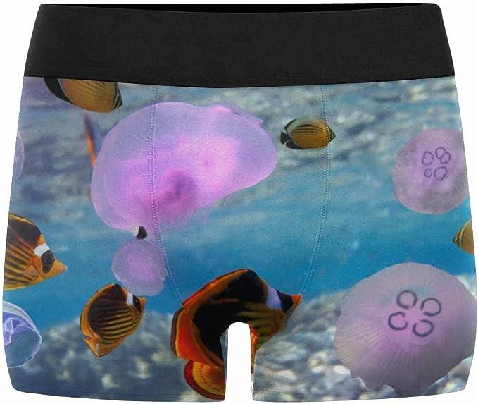 XS-3XL INTERESTPRINT Mens Boxer Briefs Underwear Jellyfish Sea Collection