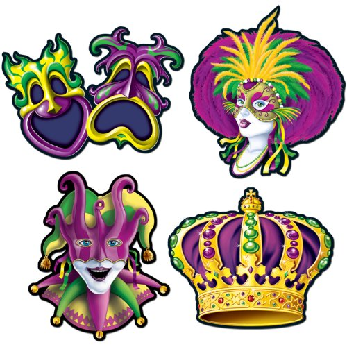 Mardi Gras Cutouts Party Accessory (1 count) (4/Pkg)]()