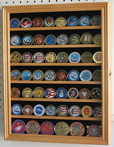 Oak Poker Chip Antique Bullion Coin Display Case With Glass Door Solid -