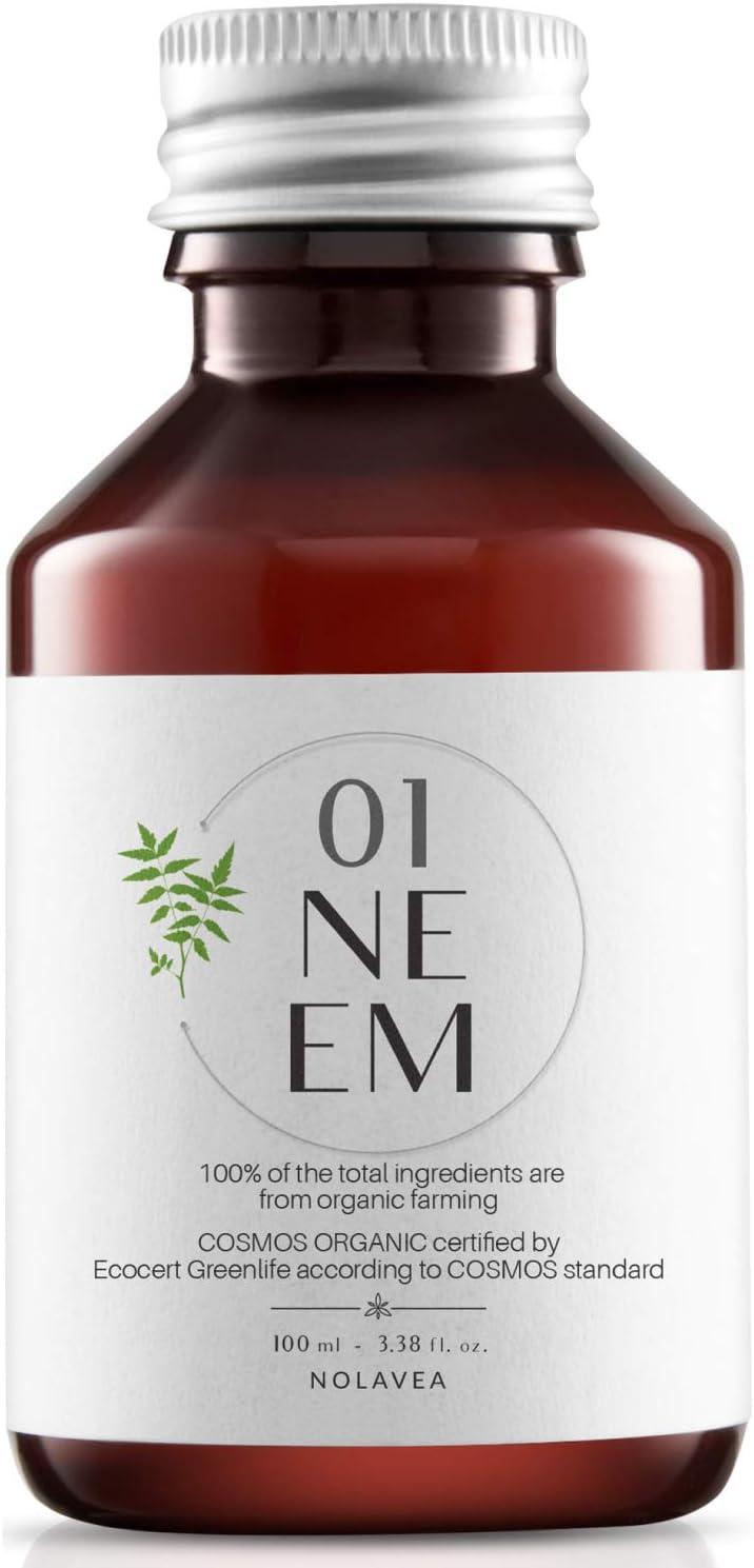Aceite de Neem 100% Vegetal - Made in France - 100ml - Aceite Ecologico Prensado en Frio y Virgen - Tratamiento Pelo, Piel, jardin, anti-piojos anti-garrapatas - Regula, Hidrata, Alimenta y Suaviza