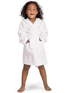bba8b064ba Amazon.com  Kid s Hooded Terry Cloth Bathrobe - Cozy Robe by for ...