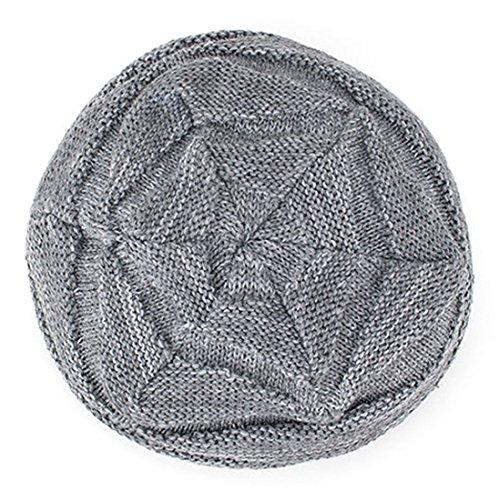 gris de Kuyou Gorro punto para hombre wS7WBU4q