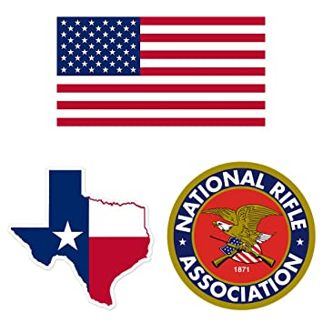 Amazon.com: Pack of 3 Vinyl Decals - Texas State Map Flag, United ...