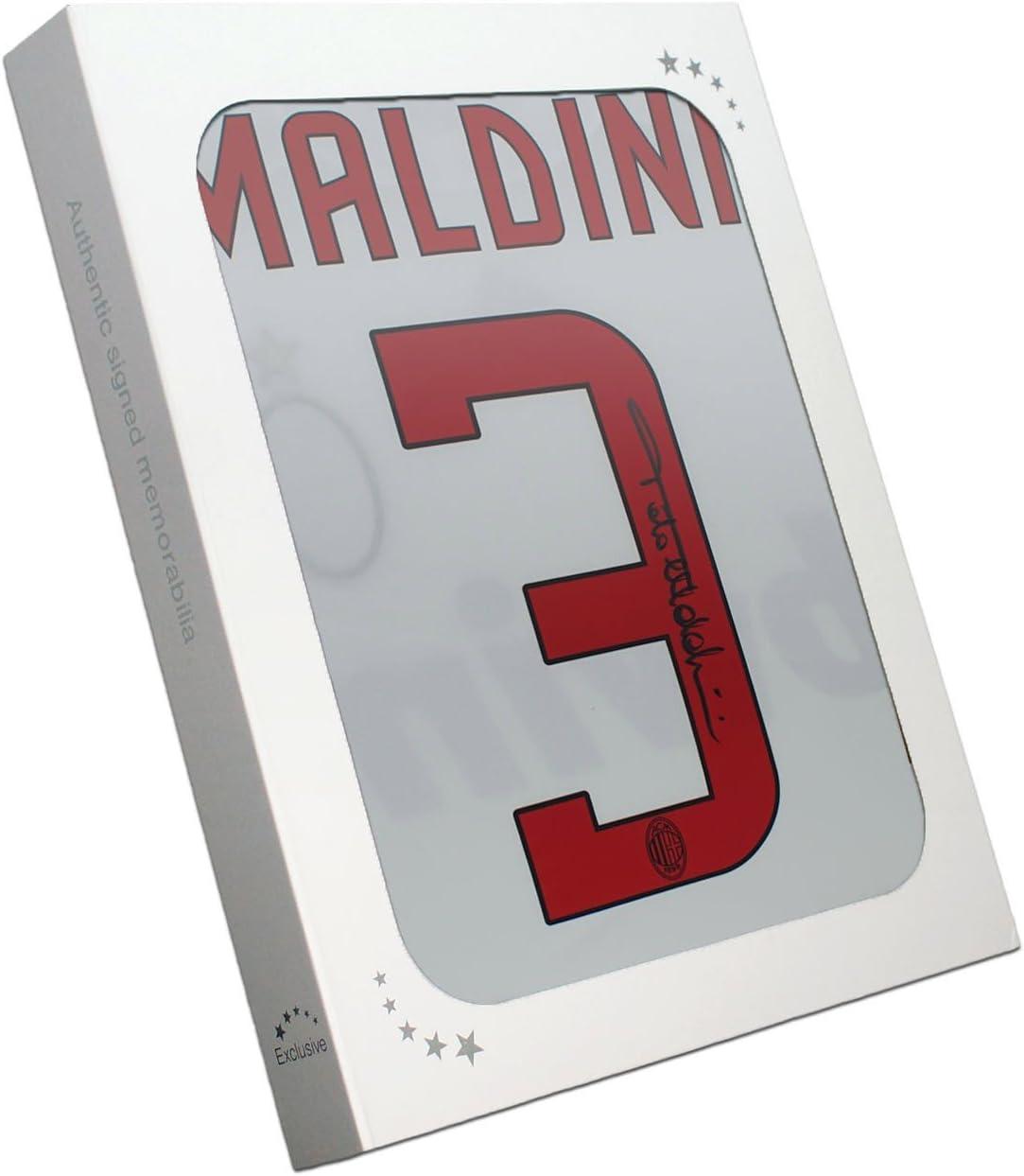 Paolo Maldini Firmado 2008-09 AC Milan camiseta Lejos en la caja de regalo: Amazon.es: Deportes y aire libre
