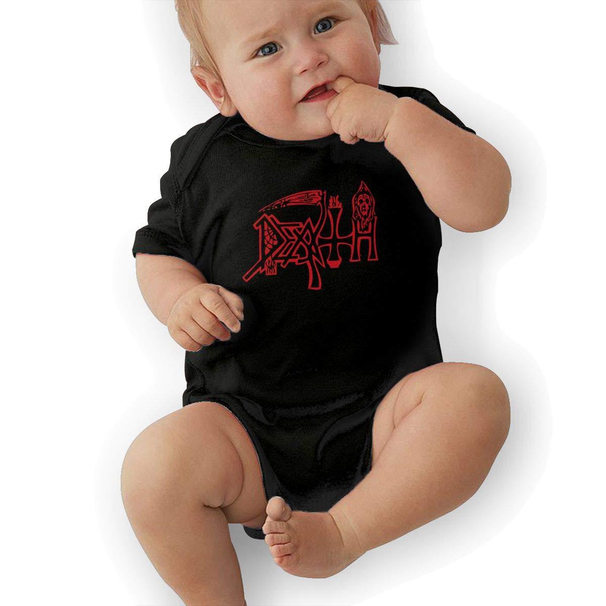 LuckyTagy Death Unisex Fashion Infant Romper Baby GirlPlaysuit Black