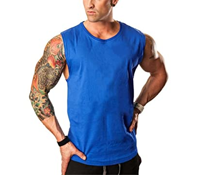 Befox Herren Tank Top Tankshirt T-Shirt Kapuze Unterhemden /Ärmellos Muskelshirt Weste Fitness Sport Vest
