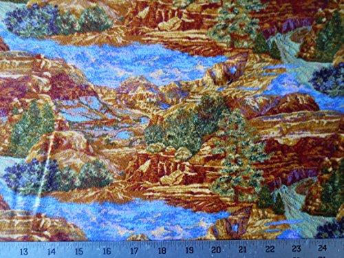 Fabric Northcott Flannel (Grand-Canyon-Deep-Orange-and-Rust-Flannel-Northcott-Cotton-Fabric-F2313-53 Grand-Canyon-Deep-Orange-and-Rust-Flannel-Northcott-Cotton-Fabric-F2313-53)