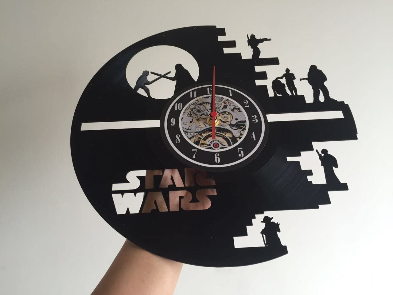 Vinyl Record Vintage Wall Clock Gift for Star Wars Lovers