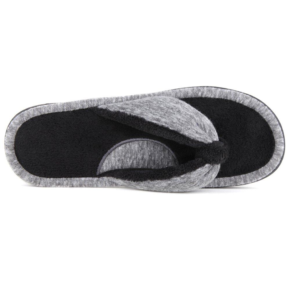 e957e06f998 Wishcotton Women s Adjustable Memory Foam House Spa Thong Slippers  Amazon. co.uk  Shoes   Bags
