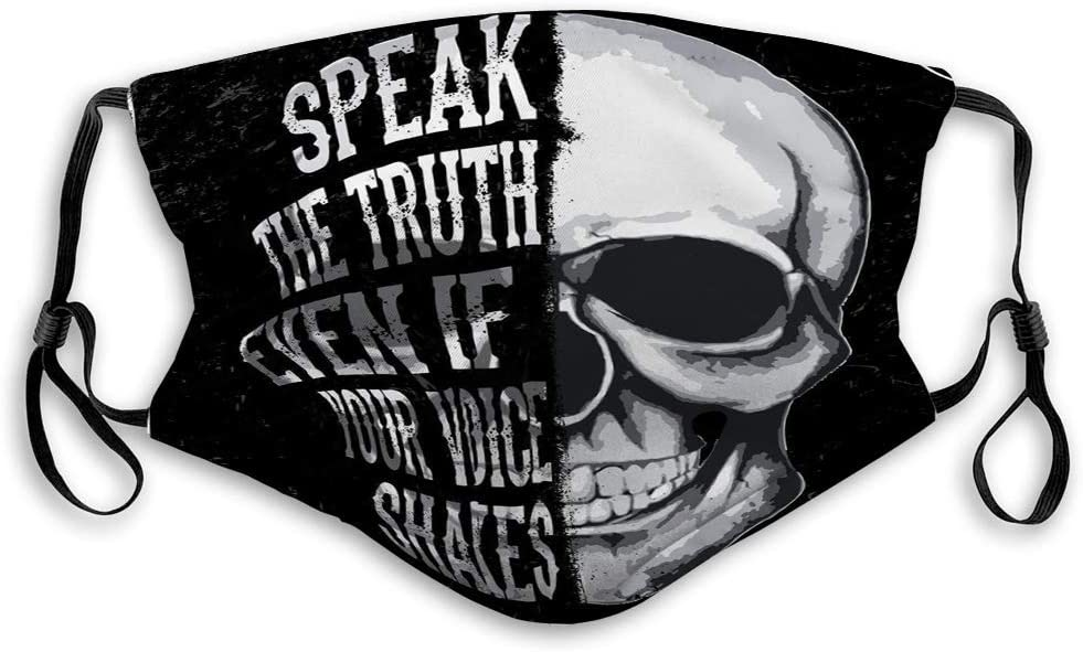Boys and Girls Skull Graphic Fashion Style Olive Croft Face Cover for Men and Women