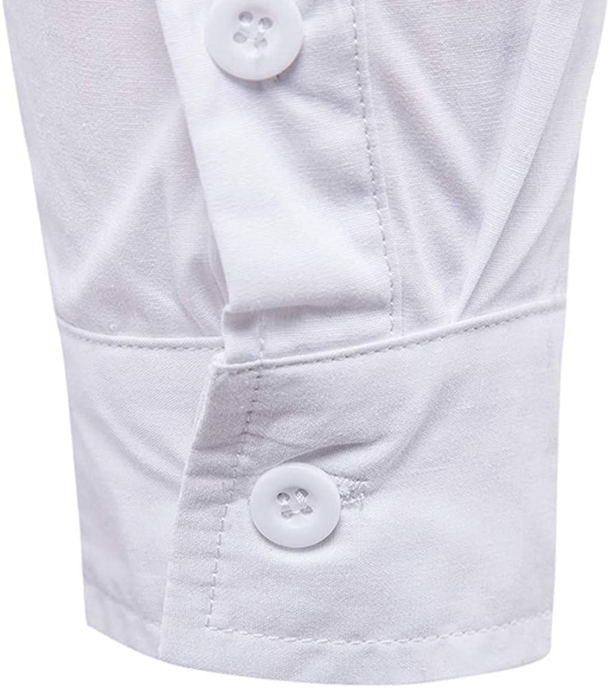 Mens Blouse Slim Shoulder Long Sleeve Shirt Top Military Combat Cotton Pocket Casual Shirt