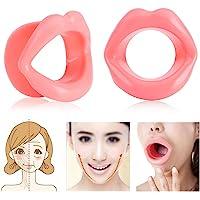 Yosoo 2Pcs Silicona Levantamiento Facial Labial Ejercitador Boca Tensor Muscular Apriete Herramienta Anti-Arrugas