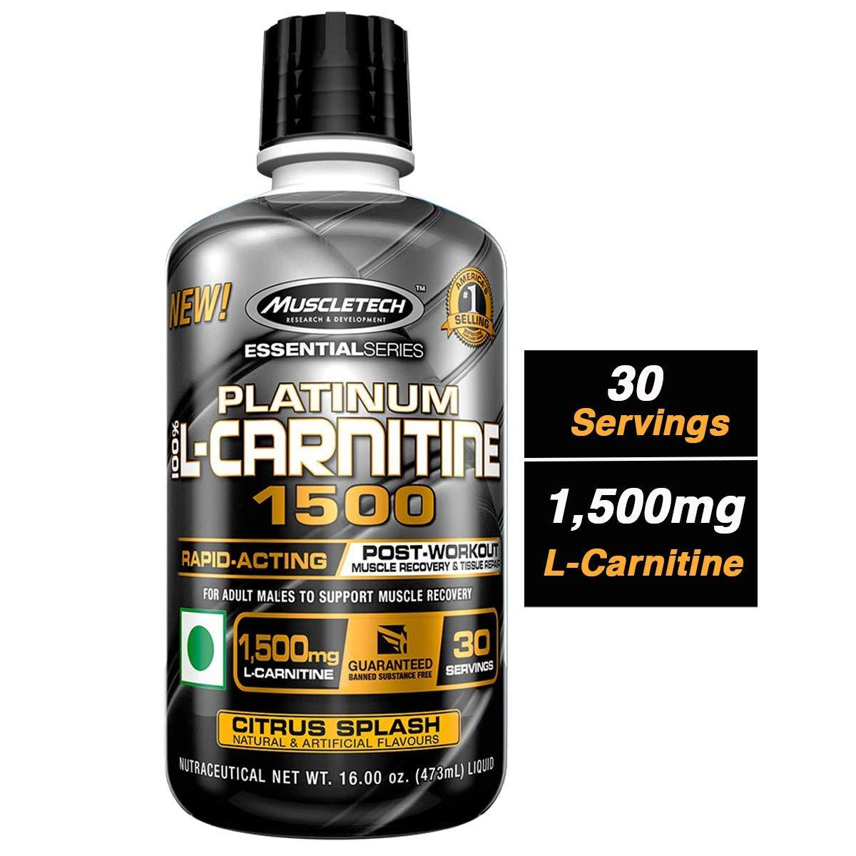 MuscleTech Essential Series 100%, L-carnitine Citrus Splash, 16 Ounce by MuscleTech