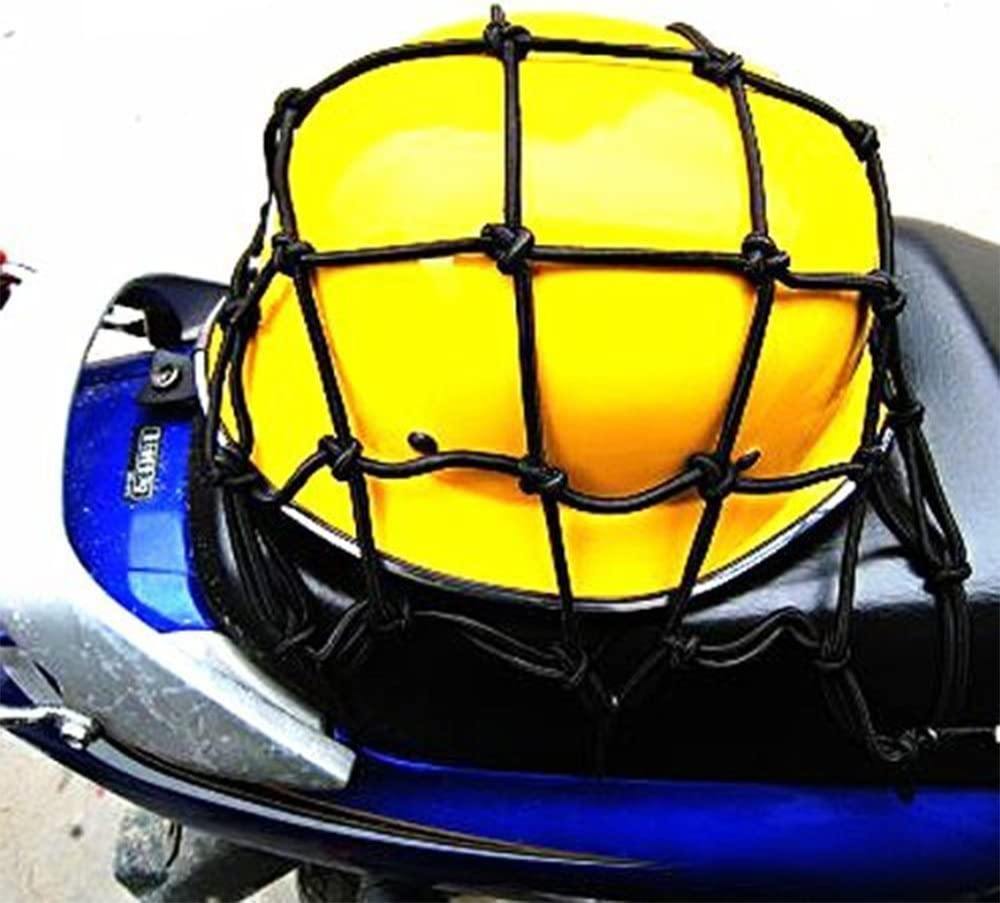 PsmGoods/® /Équipement lourd Cargo Net /Équipement de moto /Équipement Cargo Luggage Mesh Bungee Net pour motos VTT Stretches to 40 x 40cm Noir