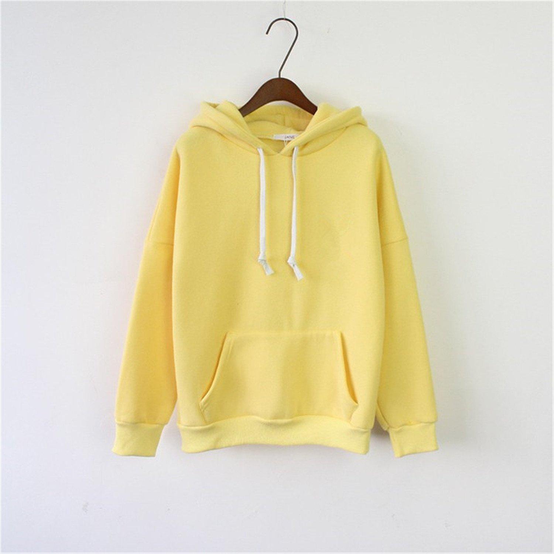 Kenavinca New Women Hoodies Sweatshirt Long Sleeve Pink Casual Harajuku Pocket Spring Hoodie For Women Pullover Sudaderas Mujer Plus Size 6 One Size at ...