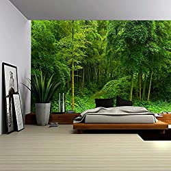 wall26 Hidden Path in a Bamboo Forest - Wall Mural, Removable Sticker, Home Decor - 100x144 inches