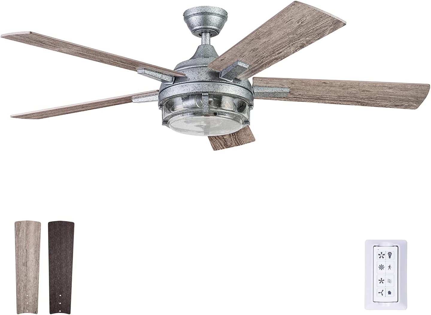 Prominence Home 51657-01 Freyr Ceiling Fan, 52, Galvanized