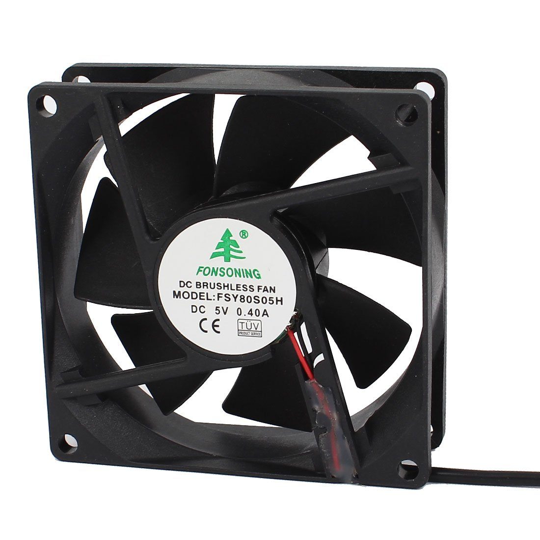 uxcell a14121700ux0066 80 x 80 x 25mm DC Brushless Cooling Blower Fan USB Charger 5V 0.4A