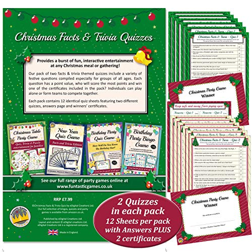 Christmas Trivia Facts.Christmas Quiz Games Facts Trivia Party Game For Family
