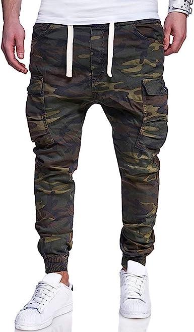 M-4XL Mens Jogger Athletic Jogger Pants Pantalones de Running Camo ...