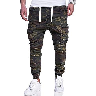 Tianhaik Pantalones de chándal para Hombre, Ajustados, Talla M ...