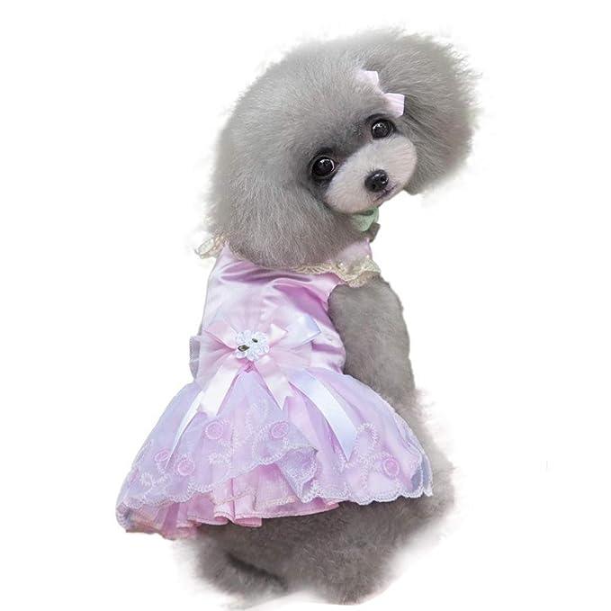 Amazon.com: ooeoo cachorro, vestido de perro gato princesa ...