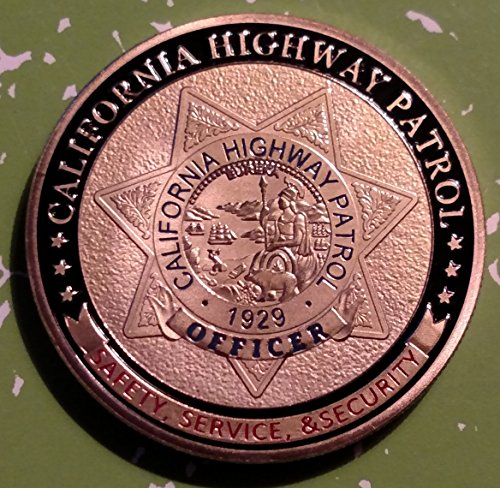 (California State Highway Patrol Police Challenge Art Coin)