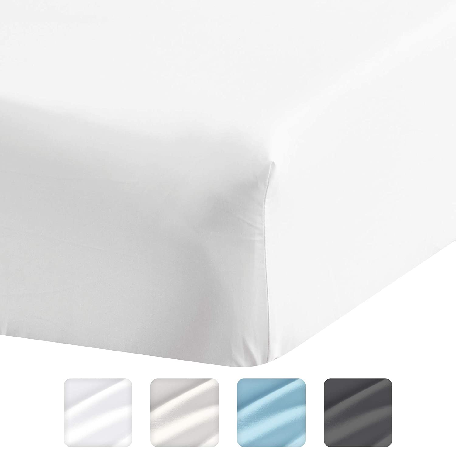 Extra Deep Pockets Full Size Sheets Single Fitted Sheet Only Deep Pockets that Actually Fits Mattress Extra Deep Pocket Fitted Sheet Extra Deep Full Fitted Sheet Fits 18 In to 24 In Mattress
