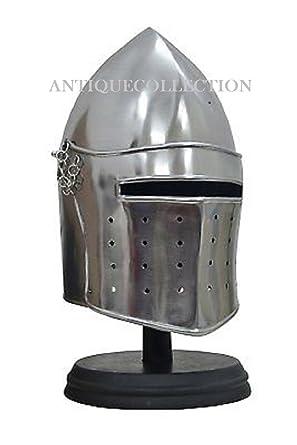 Amazon com: ANTIQUECOLLECTION Barbute Helmet Medieval Armor Replica