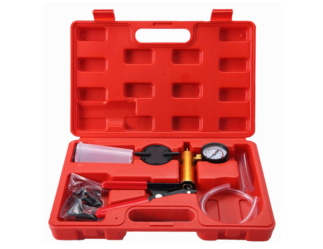 ATP 2 in 1 Brake Fluid Bleeder Oil Change Hand Held Vacuum Pistol Pump Tester Kit