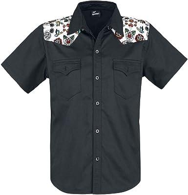 Banned Hot As Hell Camisa Negro 4XL: Amazon.es: Ropa y accesorios