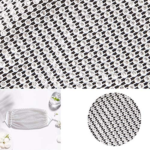 Sparkly Rhinestones Mesh Designer Face Mask Fashion Women Chain Crystal Face Masks