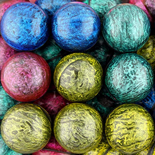Bouncing Balls 45 mm Assorted Mixed Superball Balls in Bulk for Vending Machines Great for Kids Novelty Prizes Gifts in Bulk 50 pcs Rubber Large Bulk High Bouncy Balls Jet Ball Toy (Masquerade Mix) -