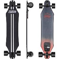 Teamgee H5 - Elektro Longboard Skateboard mit Fernbedienung, Ultra Dünn, Integrierte Akku Dual Motor, bis zu 15km Reichweit, Ahornholz Deck, Für Jugendliche Erwachsene