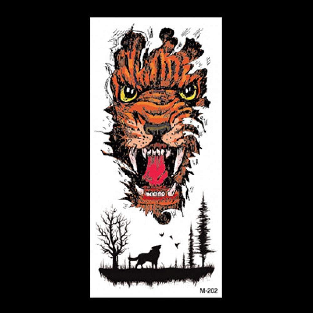 Tatuaje animal apliques brazo simulación pegatina dragón tigre lobo tótem impermeable tatuaje pegatina 3 piezas-32 90 * 190mm: Amazon.es: Belleza