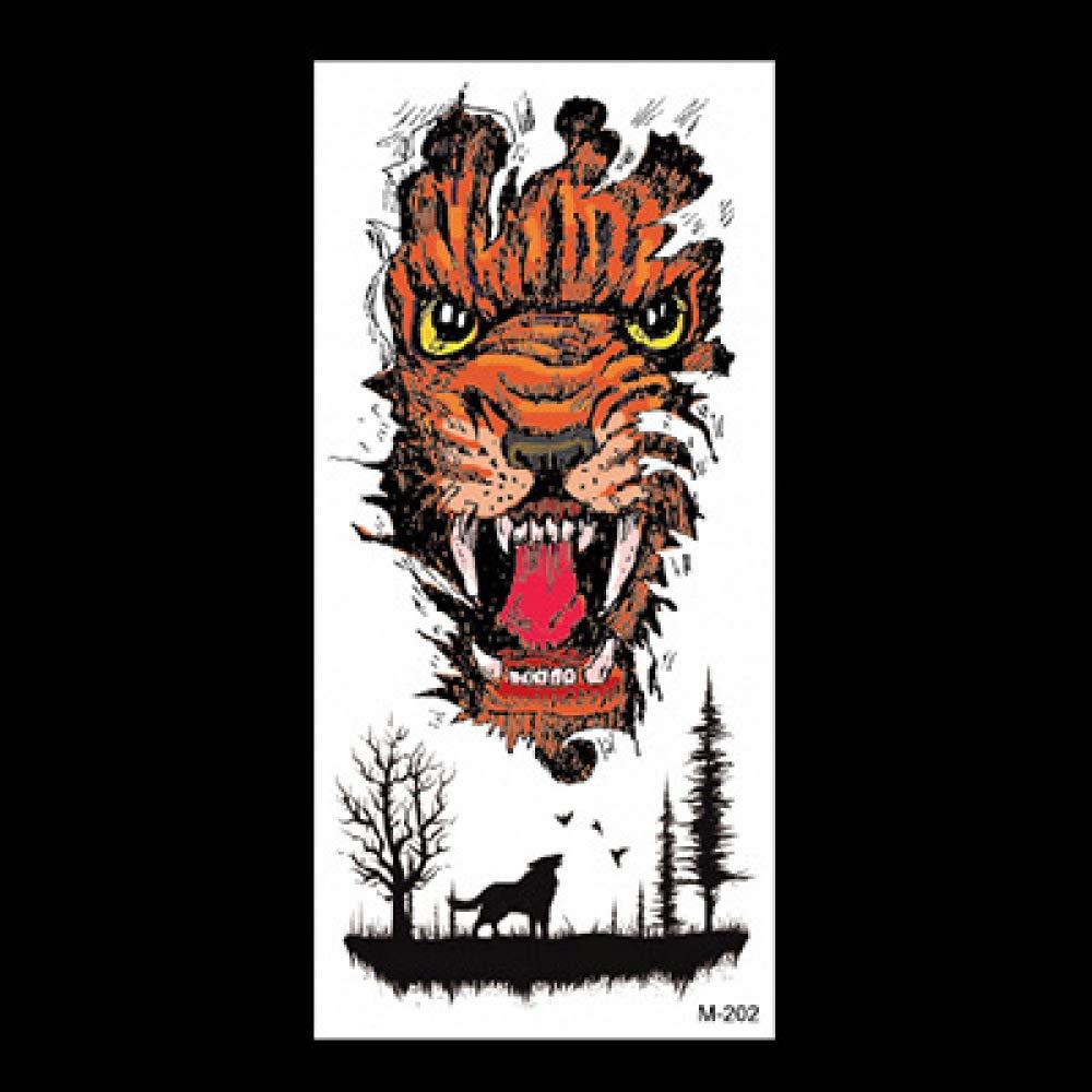 Etiqueta engomada de la simulación del tatuaje del animal Applique ...