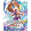 Chibi Girls 2: A Cute Coloring Book with Adorable Girls, Playful Scenes, and Fun Adventures