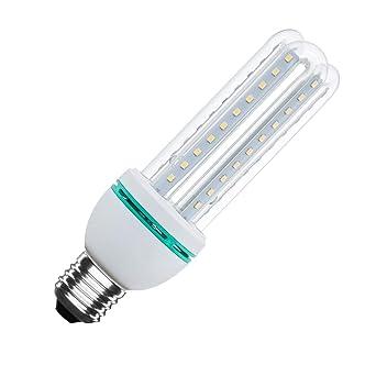 Bombilla LED CFL E27 12W Blanco Cálido 3000K efectoLED