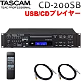 TASCAM 業務用CDプレーヤー CD-200SB (標準フォン接続用ケーブル付き) USB/SDカード対応