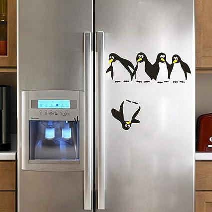 Mural Zozoso Pinguino Refrigerador Etiqueta Nevera Cocina Pegatinas