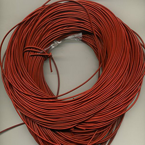 2 MM Greek Leather Cord, 10 Meter Roll (10.94 Yards) Red Leather Braiding Supplies