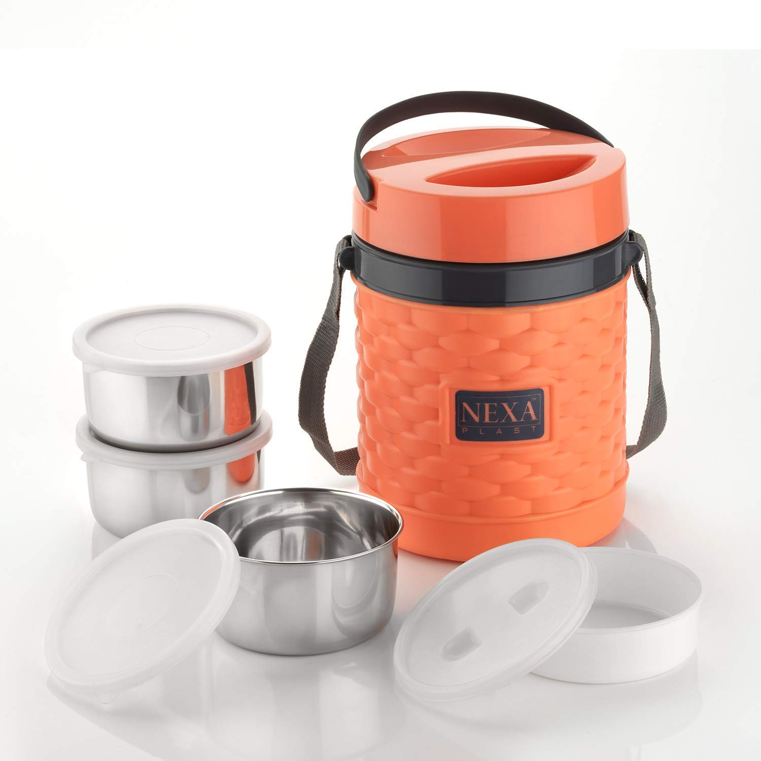 Buy Buyer Nexa Multipurpose 3 in 1 Tiffin Box Home Meal 3 Layer Insulated  Hot Lunch Box with Steel Container for Office