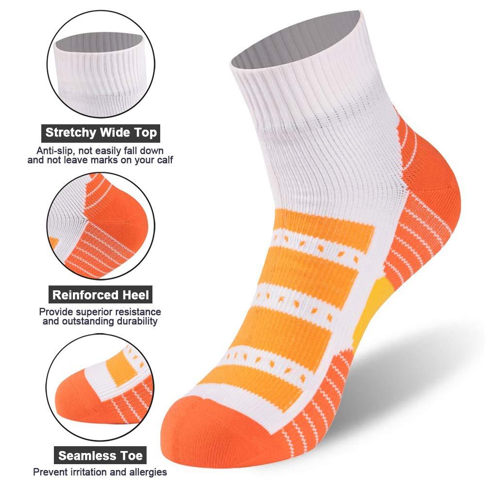 Ankle Athletic Socks RANDY SUN Breathable 100/% Waterproof Socks Running Socks Father Day Gift Mens Cycling Biking Socks 1 Pair-Black Small