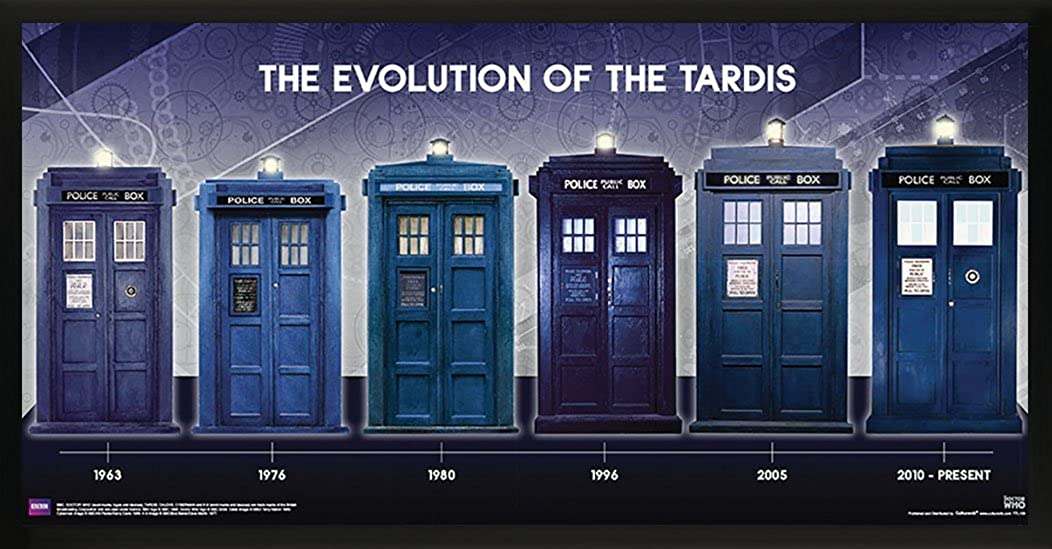 Doctor Who Evolution of the Tardis Sci Fi British TV Television Show Poster Print