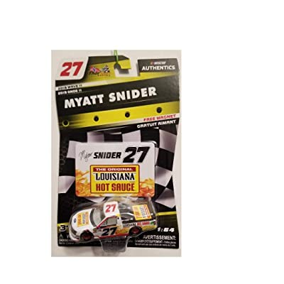 NASCAR Authentics 2020 Wave 11 Myatt Snider Hot Sauce 1/64th Scale Diecast with Bonus Magnet Insert Card: Toys & Games