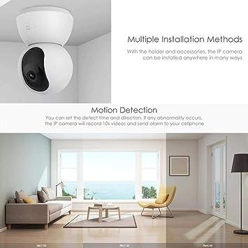 Amazon.com : Xiaomi Mijia Smart 1080P FHD WiFi IP Camera Wireless Indoor Camera Night Vision Webcam Motion Detection 2-Way Audio Home Security Surveillance ...