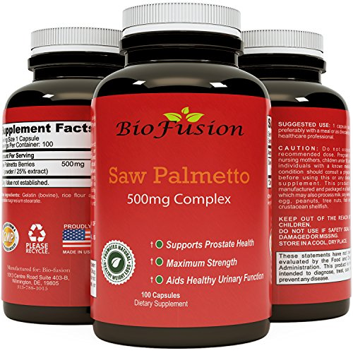 Biofusion Palmetto Capsules Urination Supplement