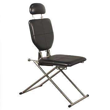 Incroyable Minerva Portable Shampoo Facial Eyebrow Waxing Makeup Chair In Black